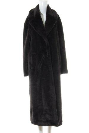 & other stories Fake Fur Coat dark brown extravagant style