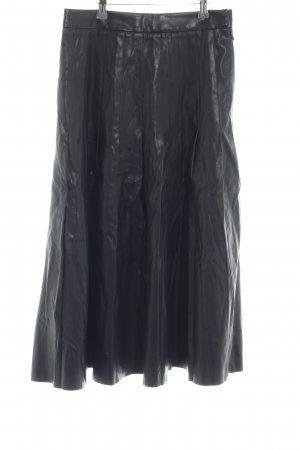 & other stories Faux Leather Skirt black street-fashion look