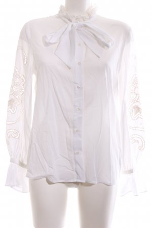 & other stories Langarm-Bluse weiß Casual-Look