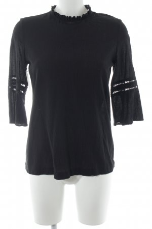 & other stories Langarm-Bluse schwarz Elegant