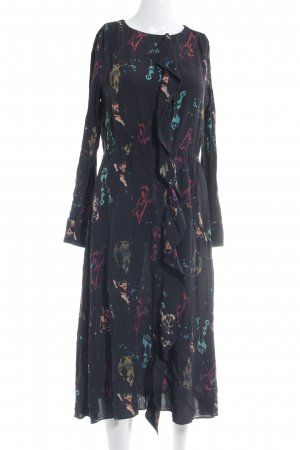 & other stories Langarmkleid abstraktes Muster Boho-Look