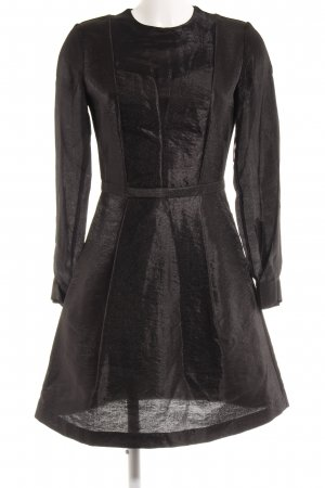 & other stories Langarmkleid schwarz Webmuster Casual-Look