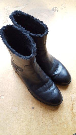 &other stories Leder Chelsea Boots Stiefel 38 gefüttert schwarz