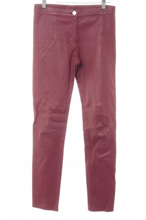 & other stories Lederhose bordeauxrot Biker-Look