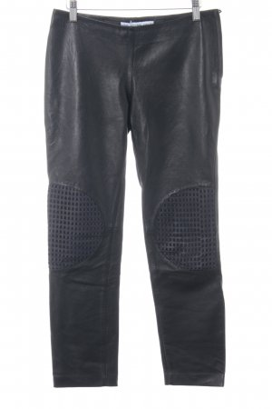 & other stories Lederhose schwarz-dunkelblau Biker-Look