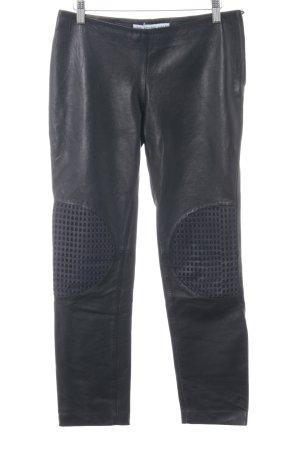 & other stories Leren broek zwart-donkerblauw Biker-look