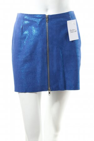 & other stories Leather Skirt blue extravagant style