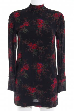 & other stories Blusa larga negro-rojo estampado floral look casual