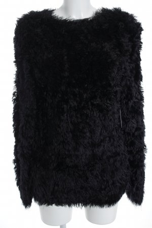 & other stories Long Sweater black fluffy