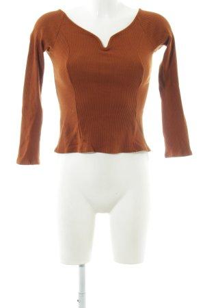 & other stories Longsleeve cognac Street-Fashion-Look