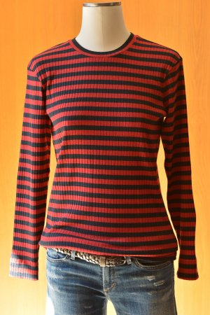 & OTHER STORIES Longsleeve Shirt 36/6 Ringelshirt Rot-Schwarz striped Shirt