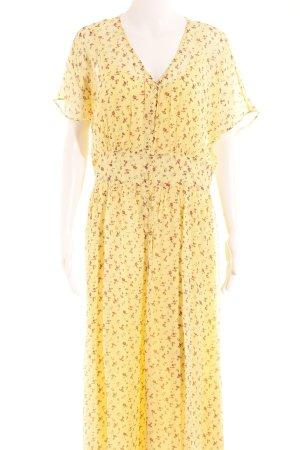 & other stories Maxikleid gelb florales Muster Romantik-Look