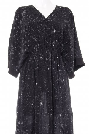& other stories Maxi-jurk zwart-wit gestippeld patroon casual uitstraling