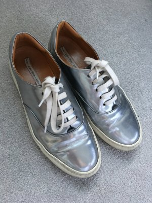 & other Stories Metallic Sneakers Silber aus Echtleder
