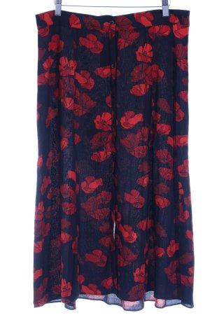 & other stories Midirock schwarz-dunkelrot florales Muster Casual-Look