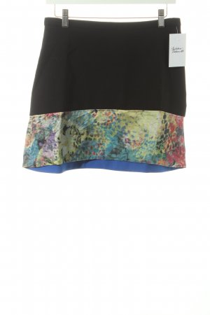 & other stories Minirock schwarz-stahlblau florales Muster Casual-Look
