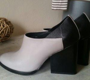 & other stories Botas de tobillo gris claro-negro Cuero