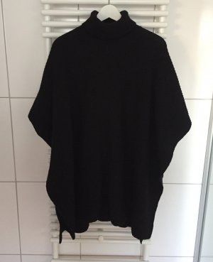 & other stories Knitted Poncho black wool