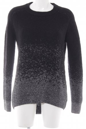 & other stories Oversized Sweater silver-colored-black weave pattern casual look