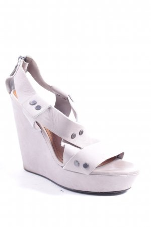 & other stories Platform High-Heeled Sandal light grey street-fashion look