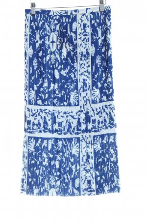& other stories Pleated Skirt blue-white abstract pattern elegant