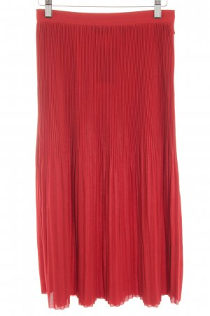& other stories Pleated Skirt dark red classic style