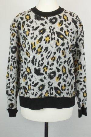 & Other Stories Pullover Strickpullover Gr. 34 beige schwarz Leo Animal Print