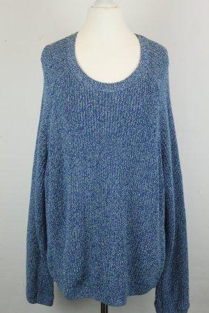&other Stories Pullover Strickpullover Gr.M blau meliert oversized