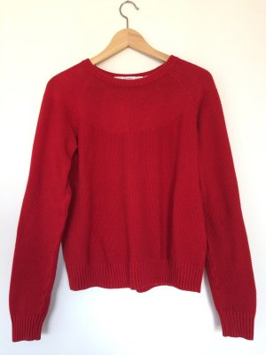 &other stories Pullover Strickpullover rot Baumwolle Trend Blogger