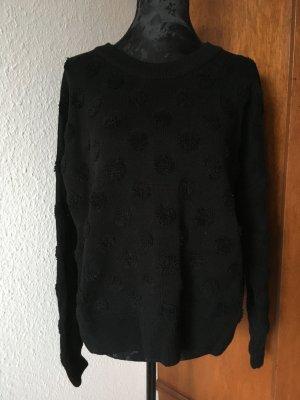 & Other Stories Pullover Sweater Wolle Schwarz Punkte