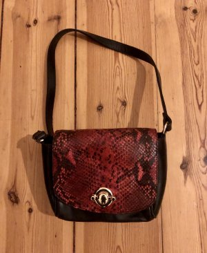 & Other Stories / Red Small Faux Snake Shoulder Bag