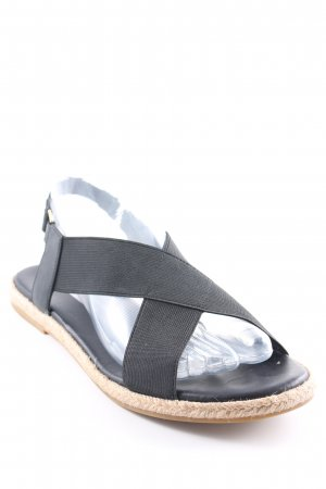 & other stories Riemchen-Sandalen schwarz Casual-Look