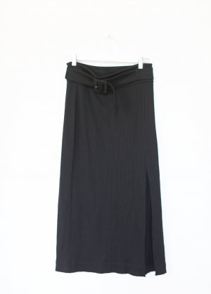 & Other Stories Rock Midi Skirt High Waist Schwarz Vintage Look Pencil Skirt