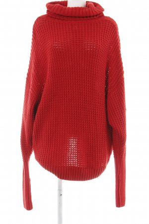 & other stories Rollkragenpullover rot Zopfmuster Casual-Look