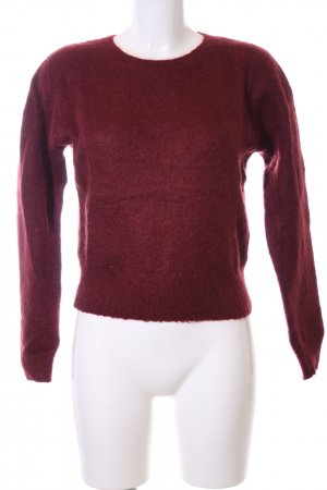 & other stories Rundhalspullover rot Casual-Look