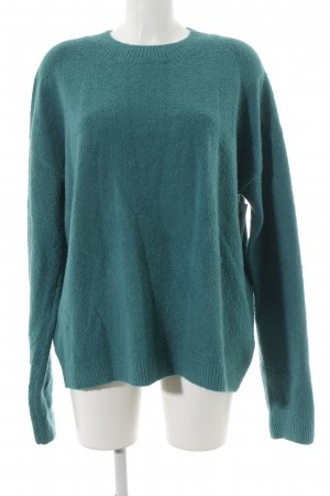 & other stories Kraagloze sweater cadet blauw casual uitstraling