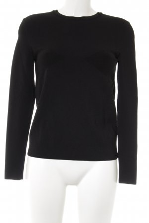 & other stories Kraagloze sweater zwart casual uitstraling