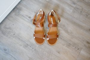 & other stories Strapped High-Heeled Sandals white-cognac-coloured leather