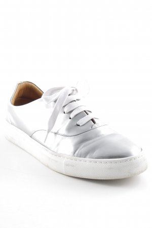 & other stories Lace-Up Sneaker silver-colored-white street-fashion look