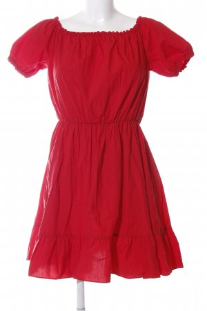 & other stories schulterfreies Kleid rot Casual-Look