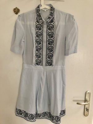 &other Stories Seiden Stickereien Hippie Kleid XS 32 34