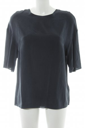 & other stories Seidenbluse dunkelblau Casual-Look