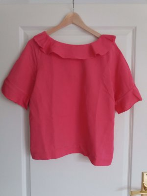 & other stories T-shirt rosa-rosso lampone Tessuto misto