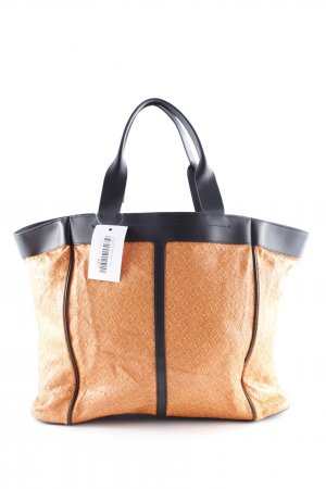 & other stories Shopper schwarz-orange Aztekenmuster Casual-Look