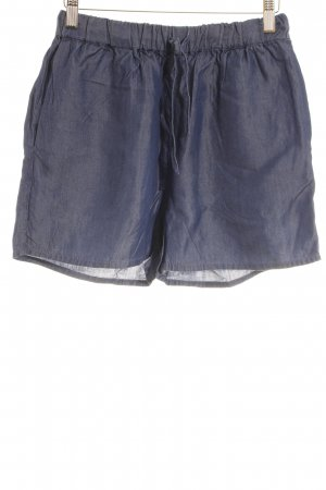 & other stories Shorts dark blue weave pattern casual look