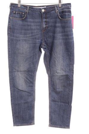 & other stories Slim Jeans graublau-blau Used-Optik