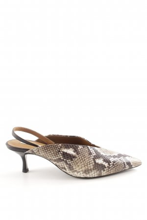 & other stories Slingback-Pumps wollweiß-braun Animalmuster extravaganter Stil