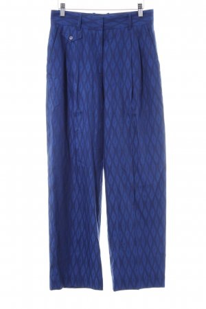& other stories Stoffhose blau-dunkelblau abstraktes Muster 80ies-Stil