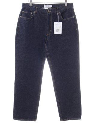 & other stories Straight-Leg Jeans blau-blassgelb Casual-Look