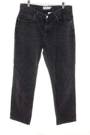 & other stories Straight-Leg Jeans schwarz Washed-Optik